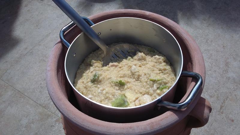 φασιανός με πληγούρι, κρασί Μαλαγουζιά, αποξηραμένα σύκα και κολοκυθάκι (για τον αέρα)