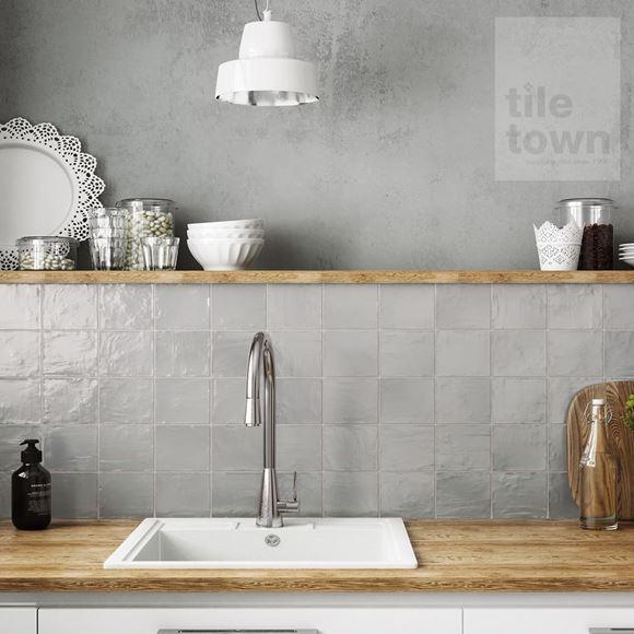 Mallorca Grey Kitchen Wall Tile