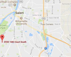 Google Map of Salem Oregon