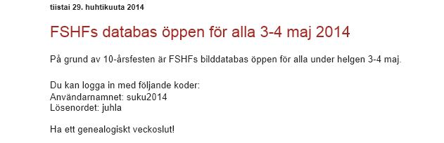 3 4 maj gratis FSHF