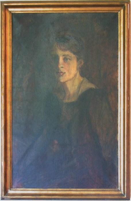 Bilde av maleri av Eva Charslotte i Carsten Arnholts eie. Bildet er malt av Agnes Hiorth