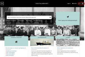 Digitalarkivet - trykk på bildet så kommer du til nettsiden
