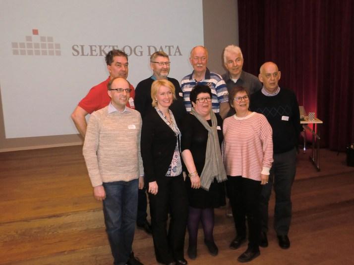 Det nye hovedstyret i Slekt og Data - valgt på landsmøte 24 april 2016