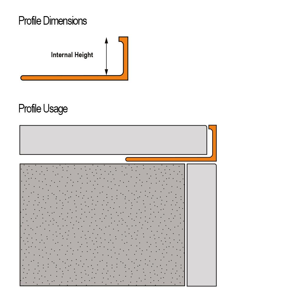 brass square edge tile trim