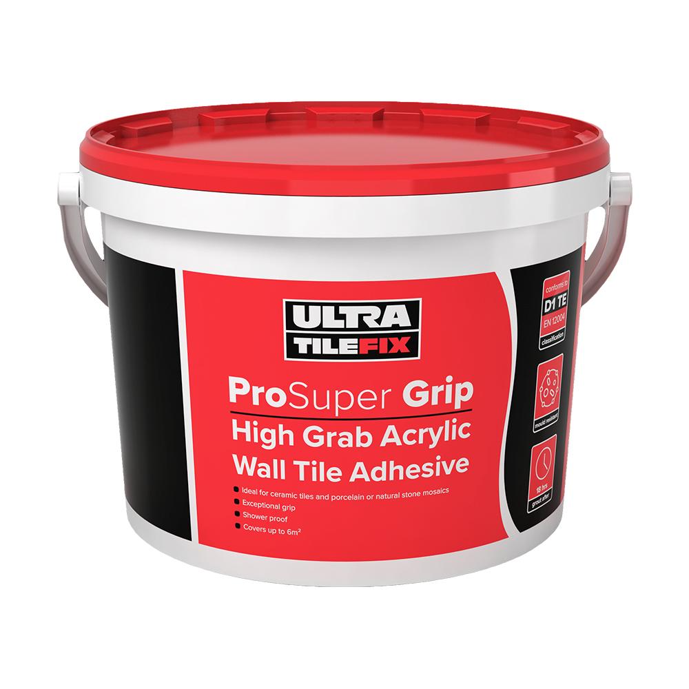 ultra tile fix prosuper grip wall tile adhesive 15kg