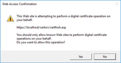 WebAccessConfirmation