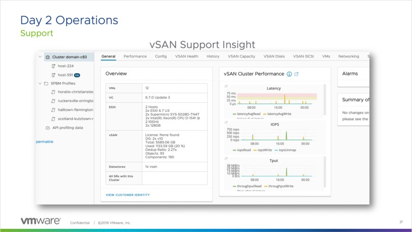 vSAN Support Insight