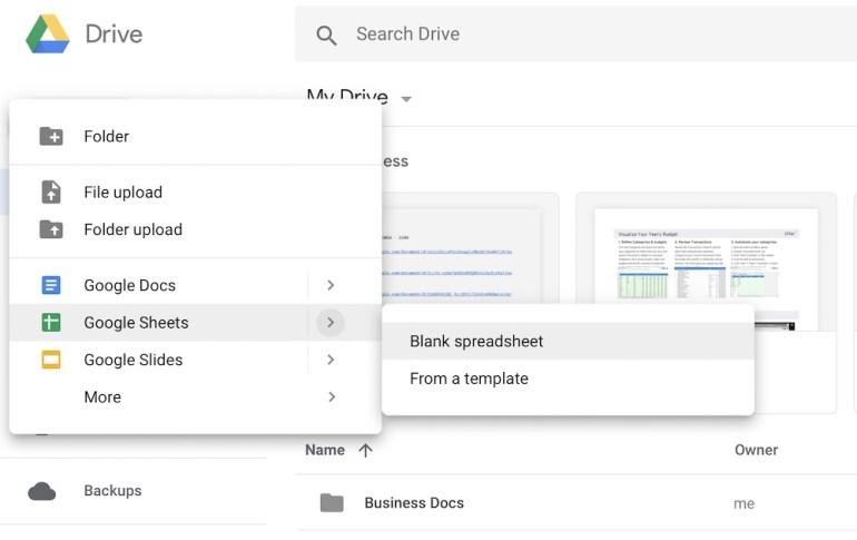 Make-New-Google-Sheet