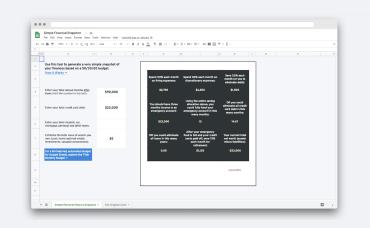 Simple 50-30-20 Budget Google Sheets
