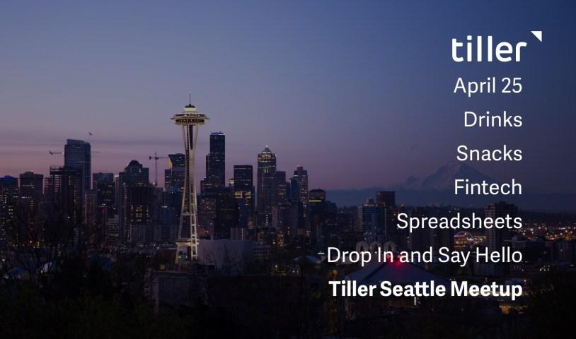 Tiller Seattle Meetup April Header