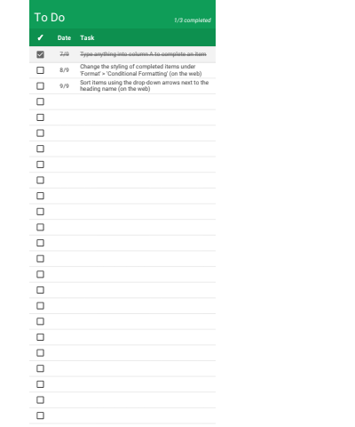 To Do List Timeline Google Sheets Template