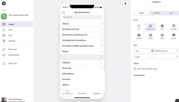 Glide and Tiller Money Mobile App