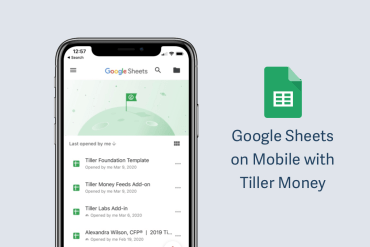 Google Sheets on Mobile