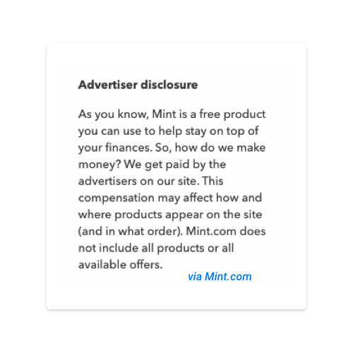 Mint Advertising Disclosure V2