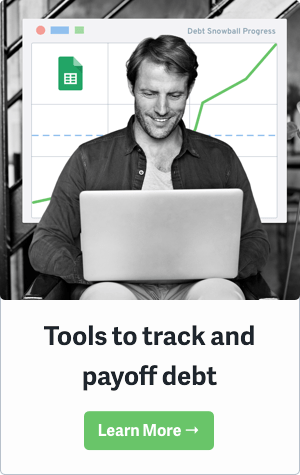 Debt Payoff Sidebar Green Button