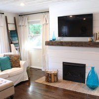Home Update: Shiplap Fireplace