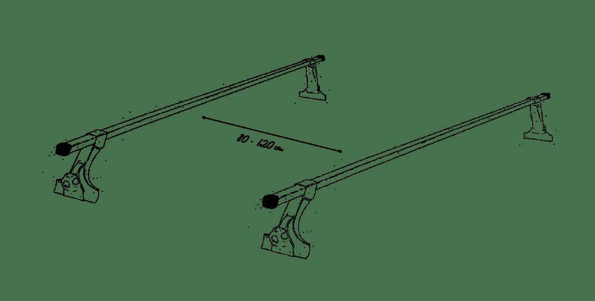 Dachzelt Dachträger Abstand Querträger