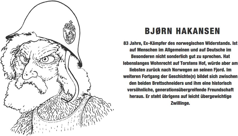 Portraitzeichnung Bjørn Harkansen