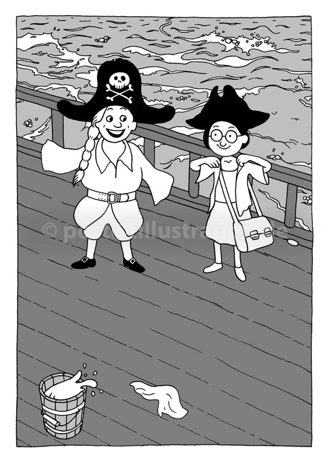 Zwei Freundinnen an Deck