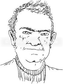Portraitzeichnung von Gerd Brettschneider