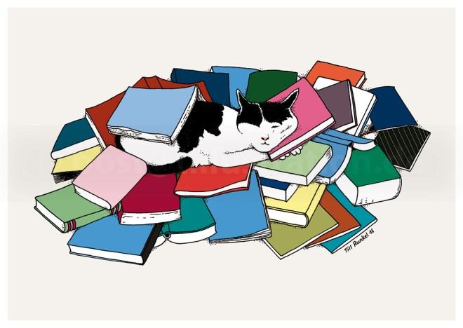 Verlagskater Jethro in seinen Büchern