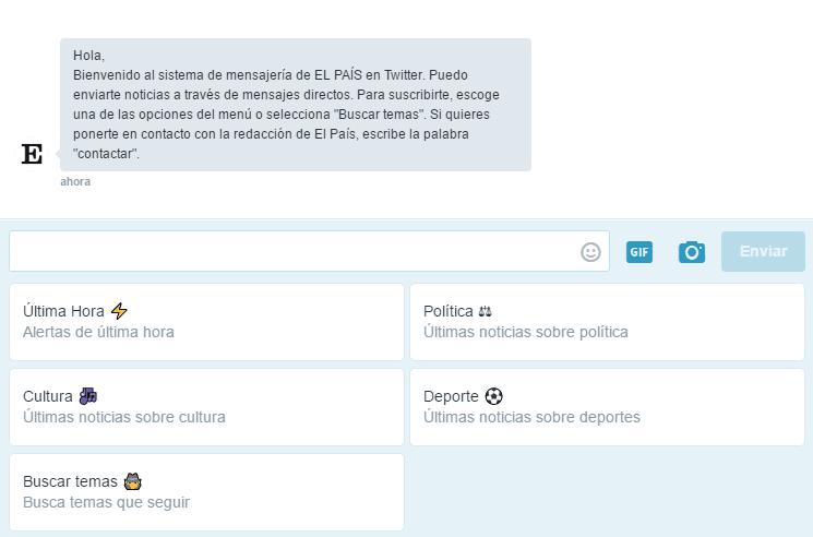 Twitter Chatbot El Pais