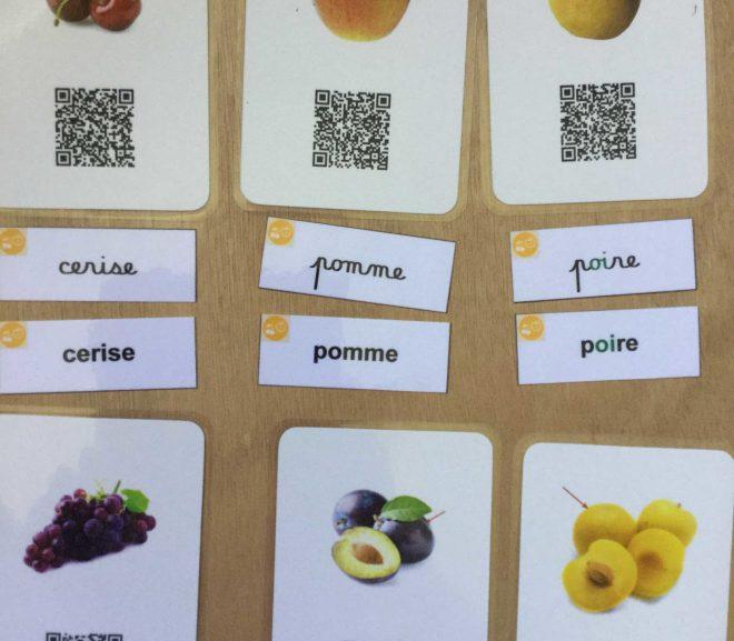 Étiquettes pour les cartes de vocabulaire