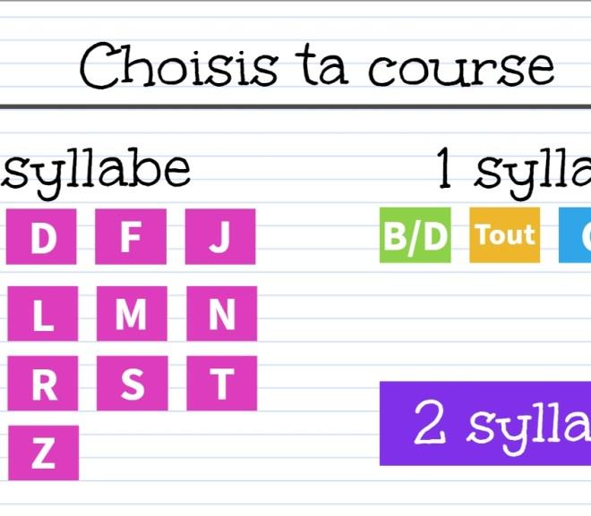 Course aux syllabes