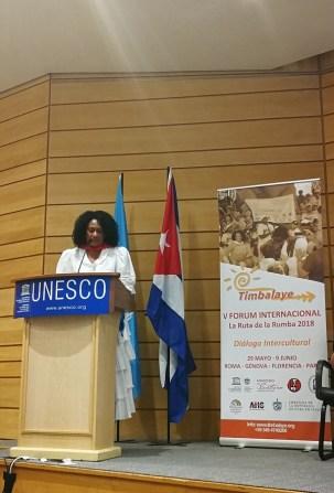 Timbalaye all'UNESCO: Intervento del Vicepresidente