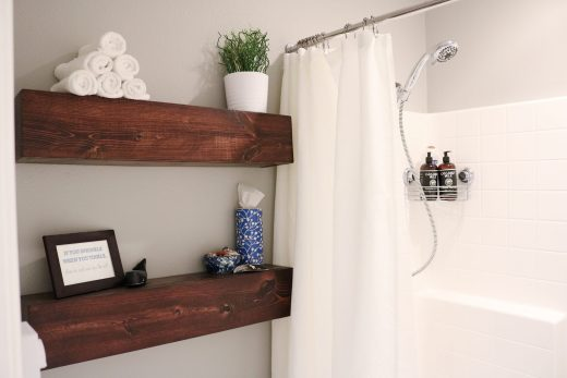 How to build simple chunky wood floating shelves!