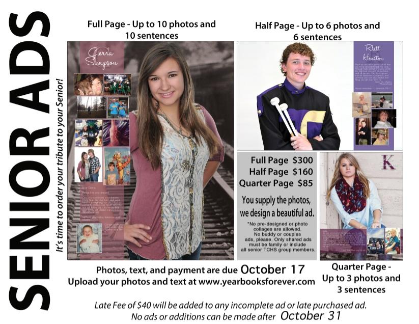 Plan Now for Senior Photos, Yearbooks | Timber Creek Talon