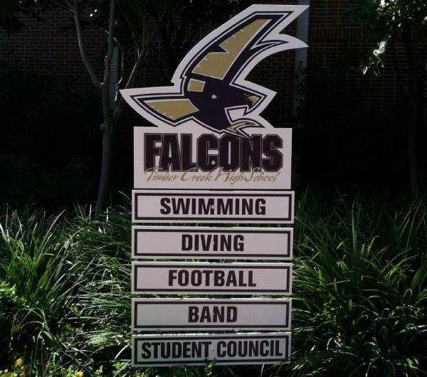 falcon yard sign