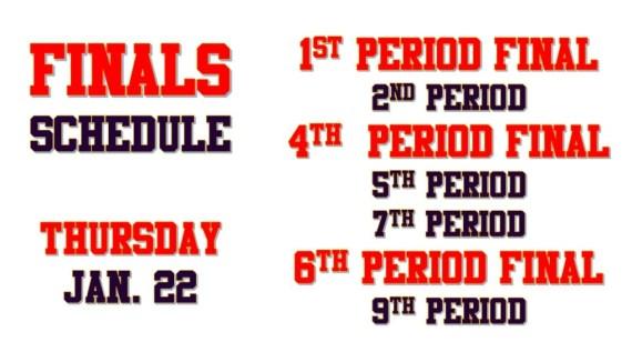 finals thursday