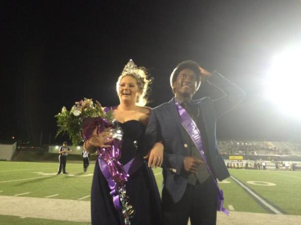 2015 Timber Creek Homecoming Queen Kaleigh Johnson and King Daniel Nkoola. (Photo from The Creek Yearbook photographers.)