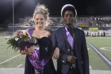 2015 TCHS Homecoming Queen Kaleigh Johnson and King Daniel Nkoola were crowned during the Sept. 11, 2015 Homecoming game.(Photo by The Creek Yearbook photographer Sabrina Trejo.)