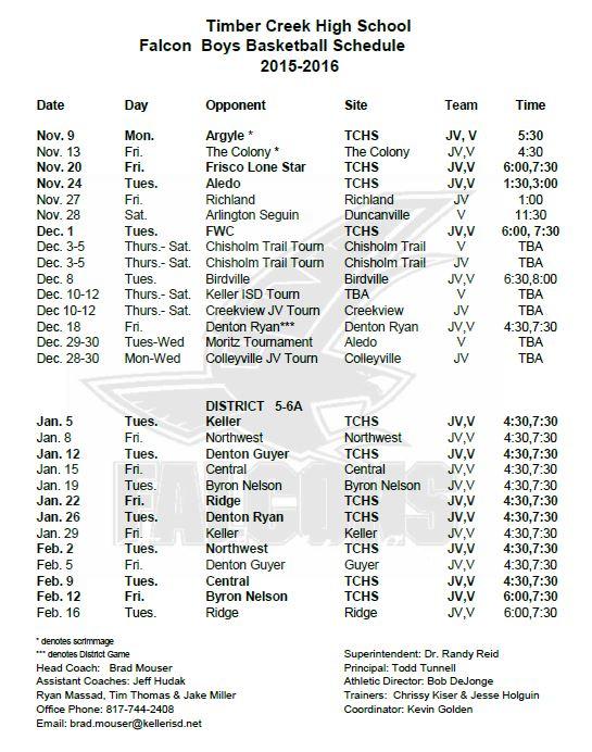 basketball schedule 2015-16