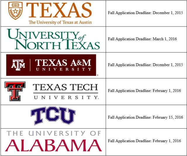 college schedule 1