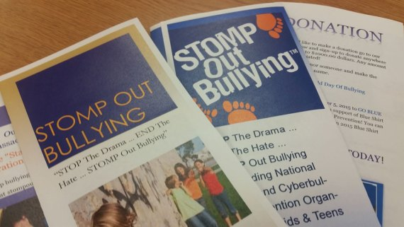 "Samples of brochures created by Professional Communications students to participate in the ""Stomp Out Bullying"" campaign."