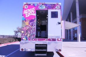 "KISD's ""Street Eatz"" food truck. (Photo by The Creek Yearbook photographer Grace Nakajima.)"