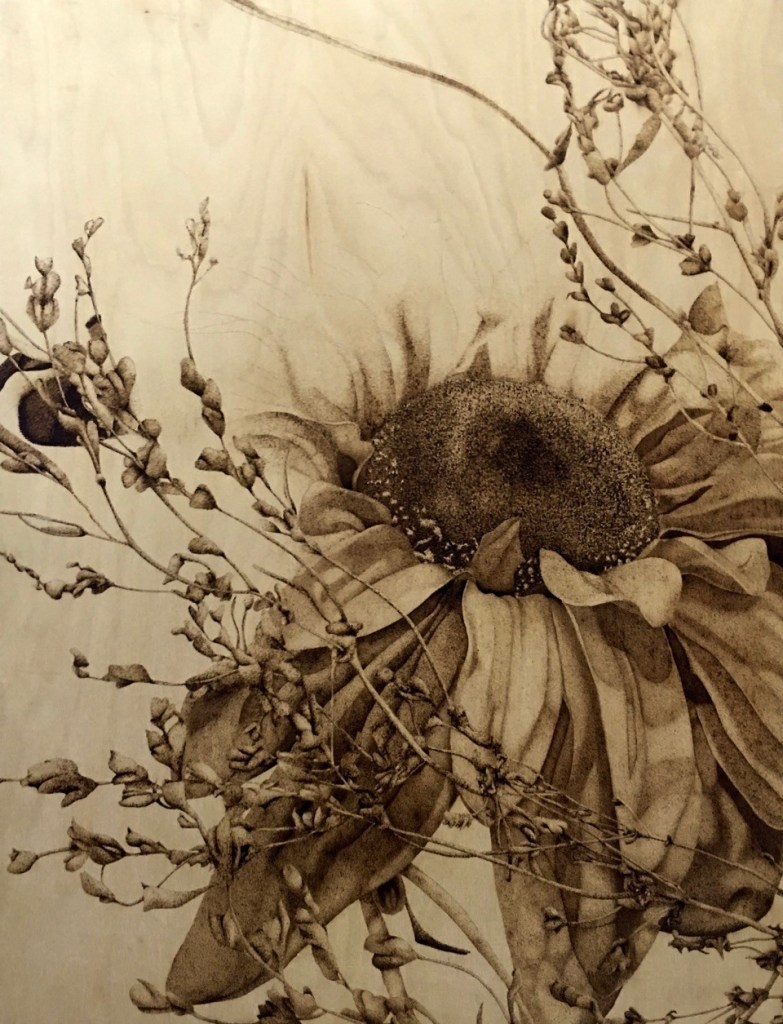 Photograph of Maranda Milton's artwork that won a Gold Seal at the 2016 State VASE competition.