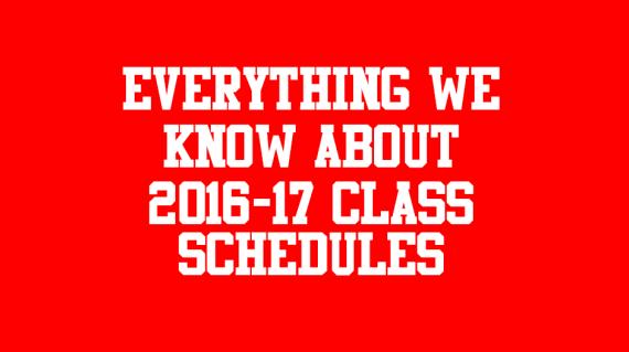 class schedules 2016