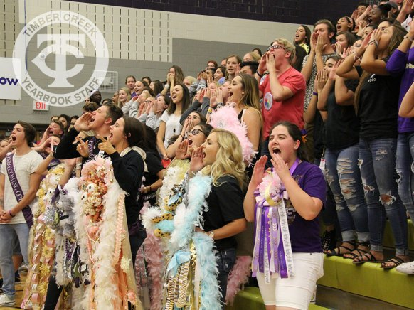 Photos from the Sept. 15, 2016 Homecoming Pep Rally. (Photo by The Creek Yearbook photographer Amanda Barber.)