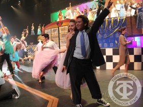 "Photos from the 2016 district-wide musical ""Grease."" (Photo by The Creek Yearbook Photographer Amanda Barber.)"
