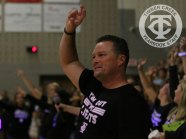 """Photos from the Sept. 8, 2017 """"Lights Out"""" pep rally. (Photo by Taylor Deker.)"""