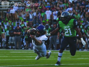 Photos from The Creek Yearbook of the Sept. 27, 2018 Timber Creek vs. Eaton varsity football game. (Pictures by The Creek Yearbook photographer Connor Chance.)