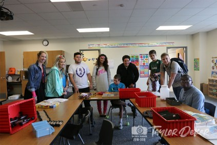 Members of the Timber Creek PTSA and others in the TCHS community came together for a fifth year to donate mums and garders for students on Oct. 17, 2018. (Photos from The Creek Yearbook photographer Taylor Deker.)