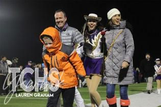 Photos from the Varsity Football Game Senior Walk on Nov. 7. (Photo by The Creek Yearbook Photographer Lauren Graham)