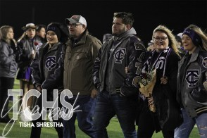Photos from the Varsity Football Game Senior Walk on Nov. 7. (Photo by The Creek Yearbook Photographer Tisha Shrestha)