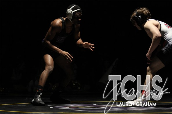 Photos from the Jan. 29 Wrestling match against Marcus. (Photo by The Creek Yearbook Photographer Lauren Graham)