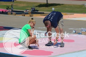 Photos from a senior parking work day. (Photo by The Creek Yearbook Advisor Kathy Beers)